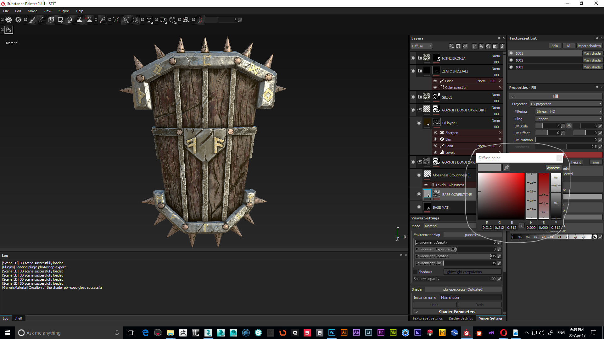 Substance Painter to Vray and TEXTURE VALUES???