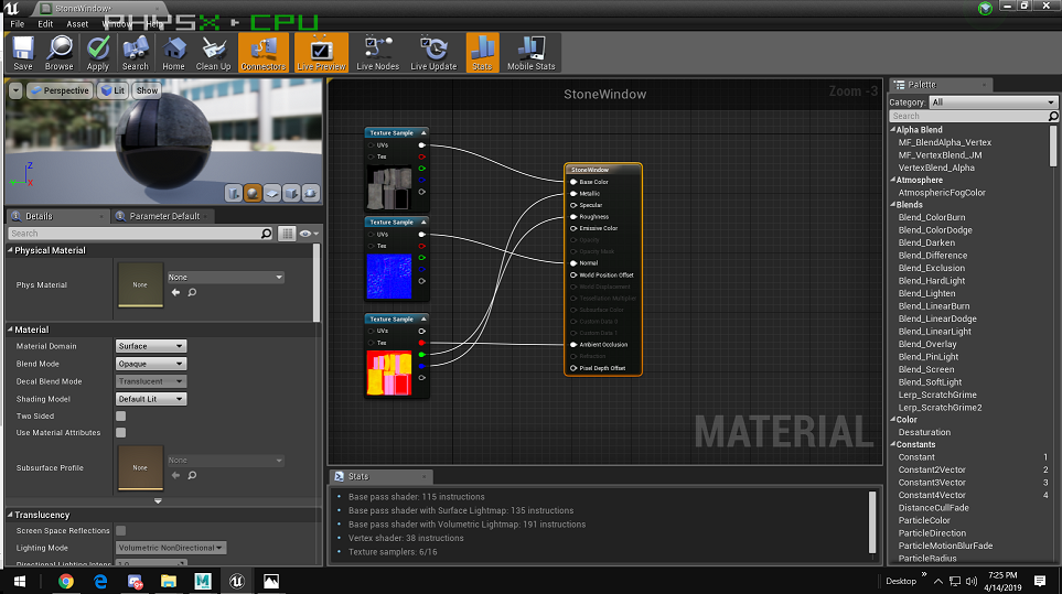 Substance Painter to Unreal Engine 4