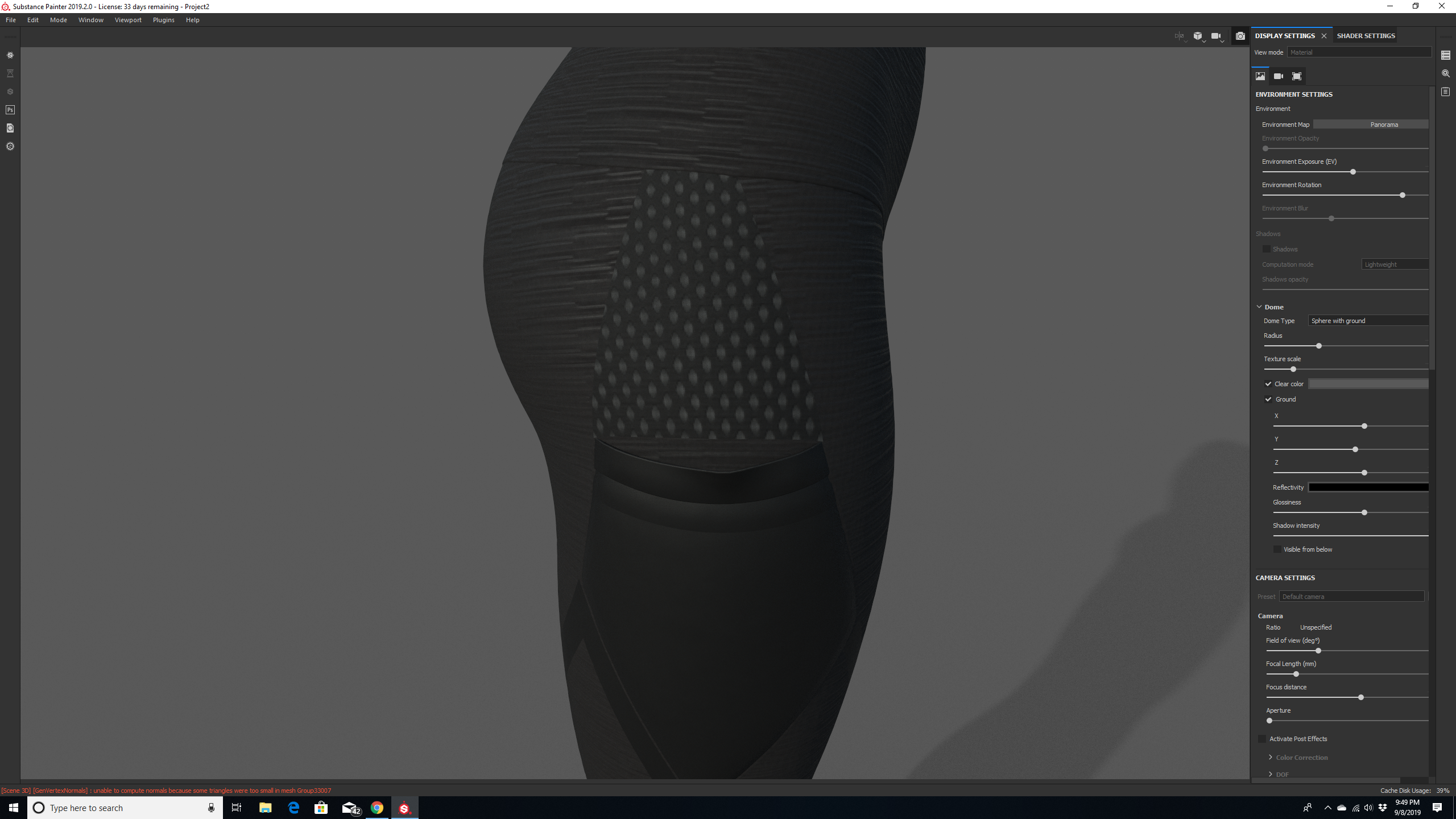 Fabric Mesh Transparency Dont Show On Rendering